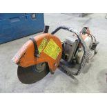 Stihl concrete cut-off demo saw, w/ gas can