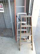 Ladders - 12'-o fiberglass, 3 step Aluminum, 4'-o