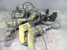DeWalt - assorted VSR drills and impact - QTY 5