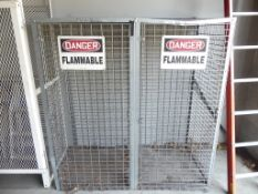 Flammable gas cylinder storage cage 60 x 63""""