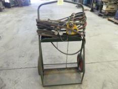 Oxygen/acetylene welding outfit w/ cart, hose, etc