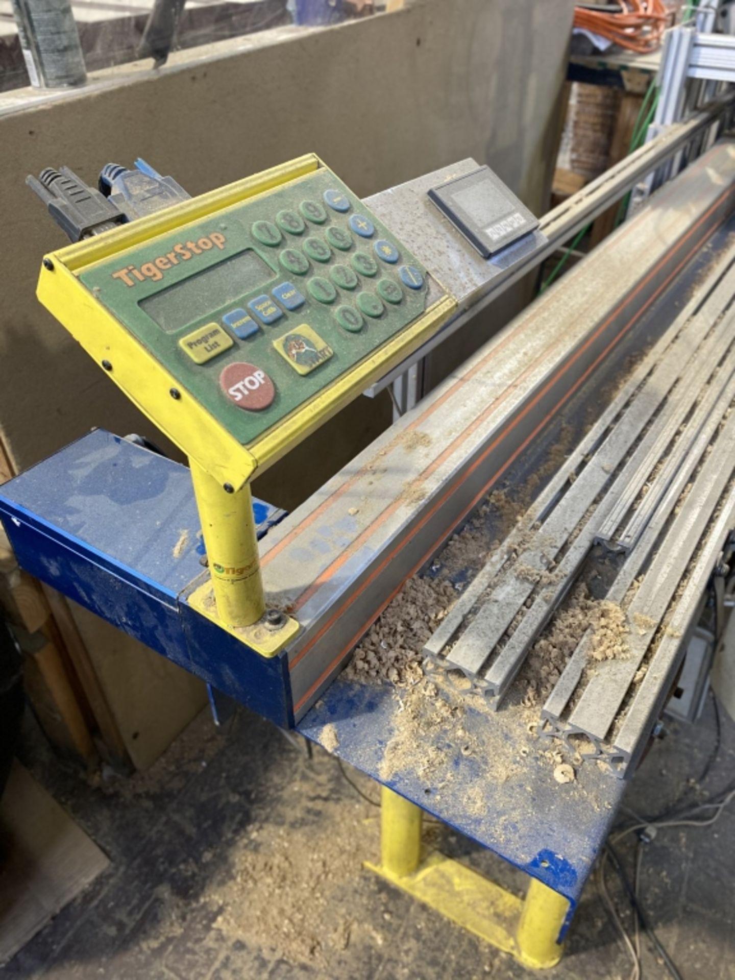 Lot 1048 - Custom Machine#7: 8' Tiger Stop/Multi-Head Drill