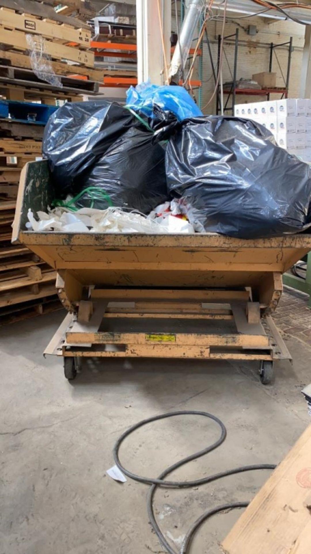 Lot 1037 - Rolling Tilting 2 1/2 Yard Dumpster