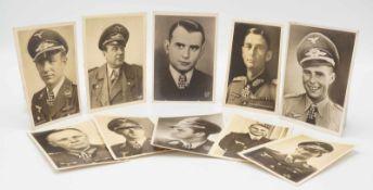 Zehn originale Ritterkreuzträger Postkarten / Ansichtskarten, 1933 - 1945