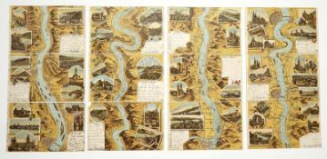 """12 Postkarten / Ansichtskarten """"Gruß vom Rhein"""", um 1900"""