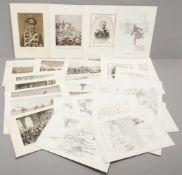 34 militärhistorische Kunstblätter