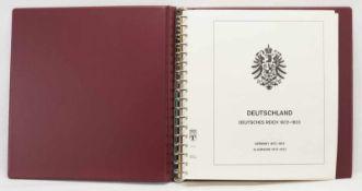 Lindner Briefmarkenalbum Deutsches Reich 1872-1923