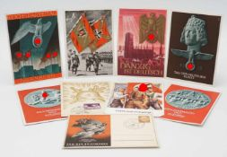 Neun Propaganda Postkarten /Ansichtskarten, 1933 - 1945