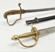 Löwenkopfsäbel um 1870 und Infanterie Säbel um 1800