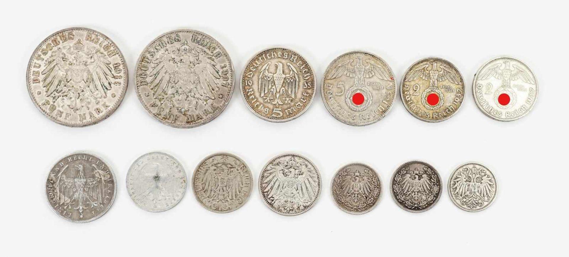 22 Münzen 1854-1936, davon 19 Silbermünzen - Bild 7 aus 7