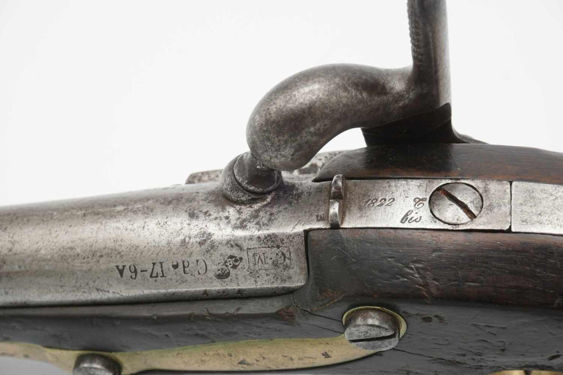 Französische Perkussions Reiterpistole M 1822 T, 1. Hälfte 19. Jh. - Bild 3 aus 4
