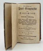 """Georg Adam Keyser, """"Allgemeine Dorf-Geographie von Deutschland"""""""