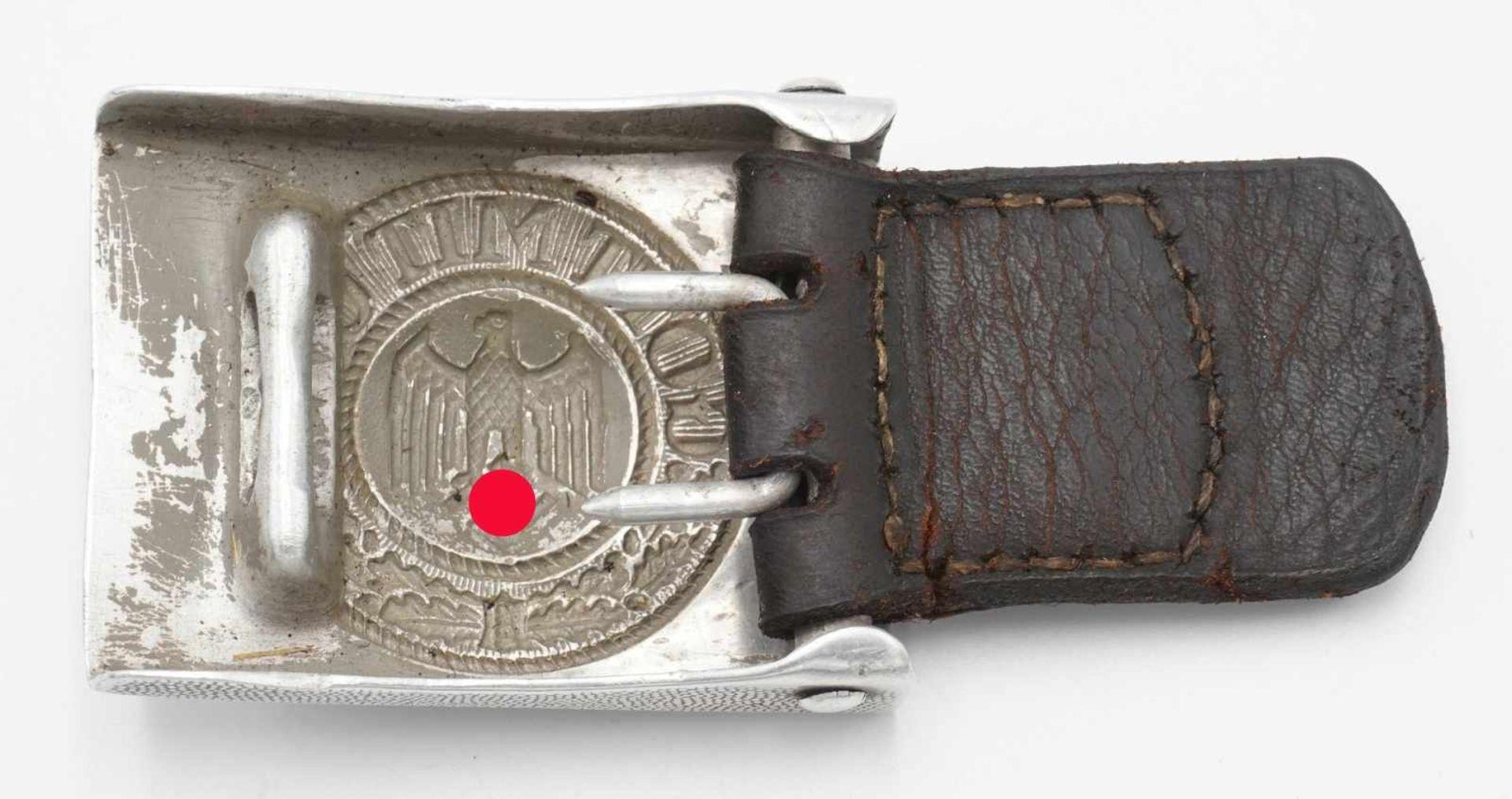 Wehrmacht Koppelschloss mit Lederriemen - Bild 2 aus 3