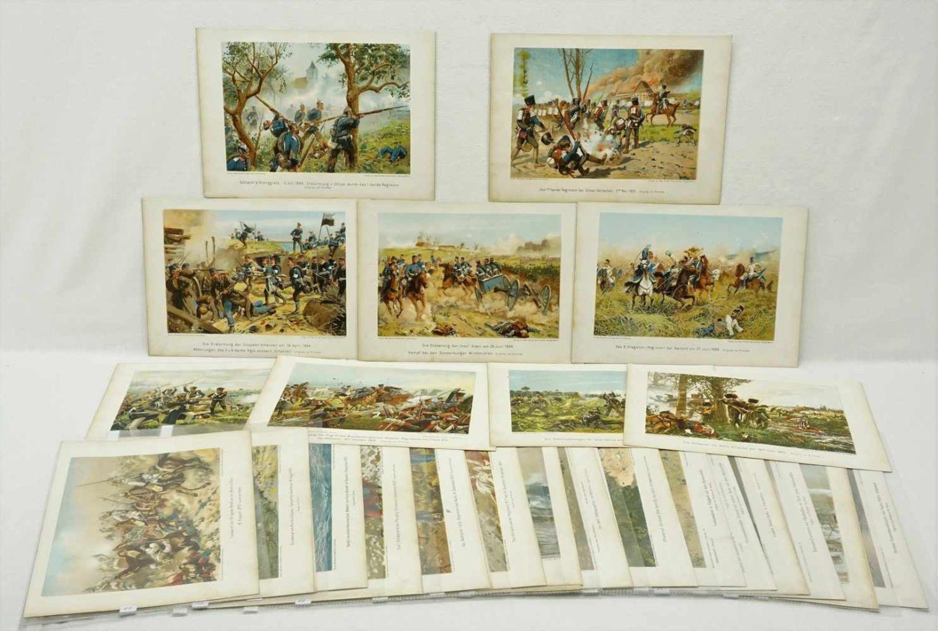 40 militärhistorische Kunstblätter