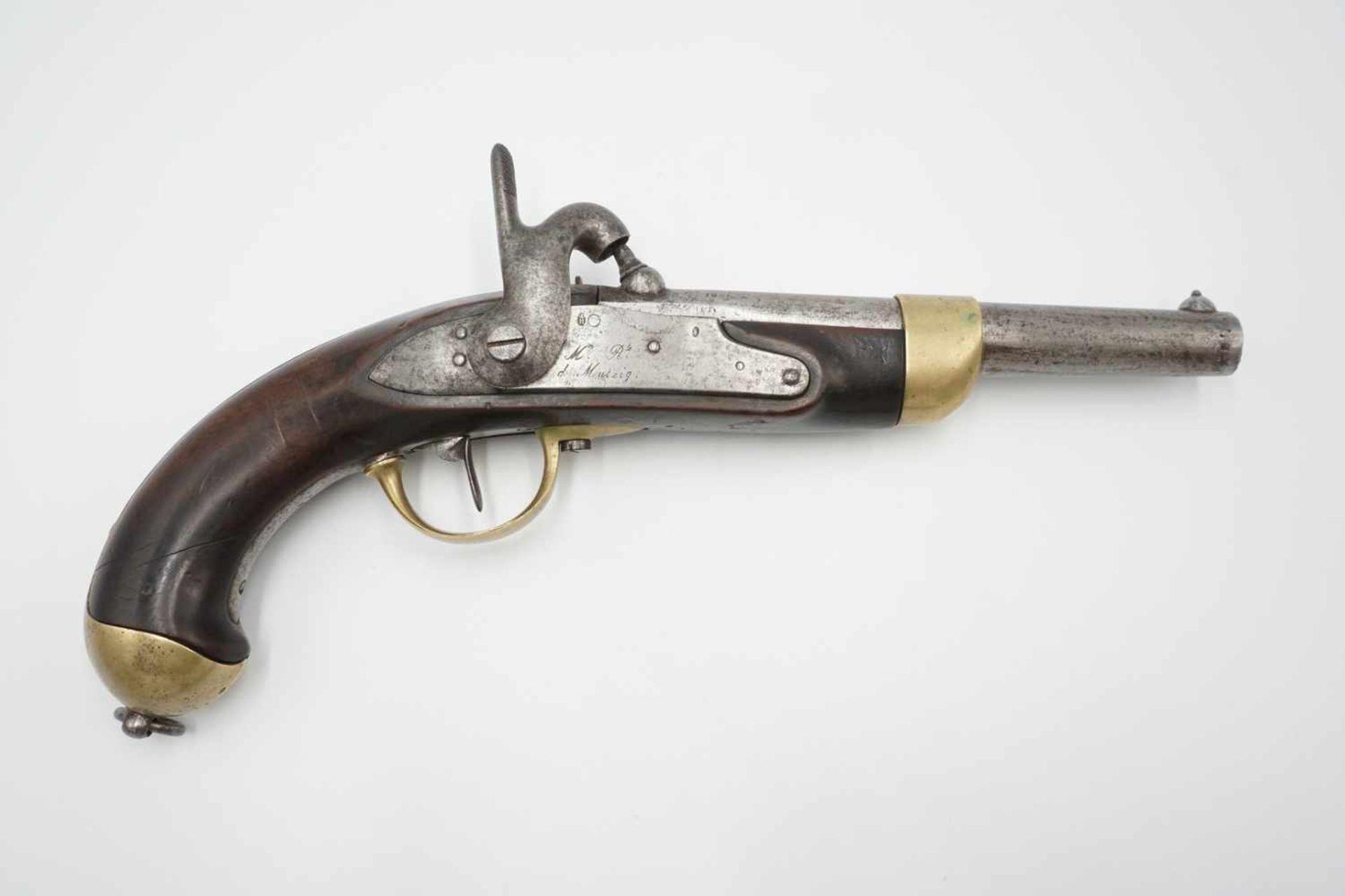 Französische Perkussions Reiterpistole M 1822 T, 1. Hälfte 19. Jh.