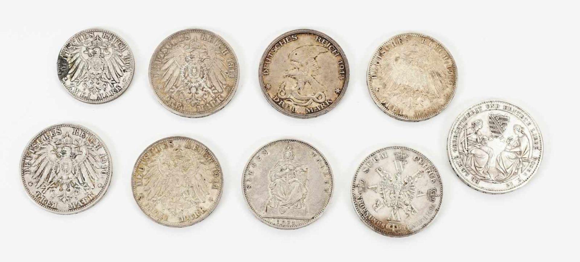 22 Münzen 1854-1936, davon 19 Silbermünzen - Bild 4 aus 7