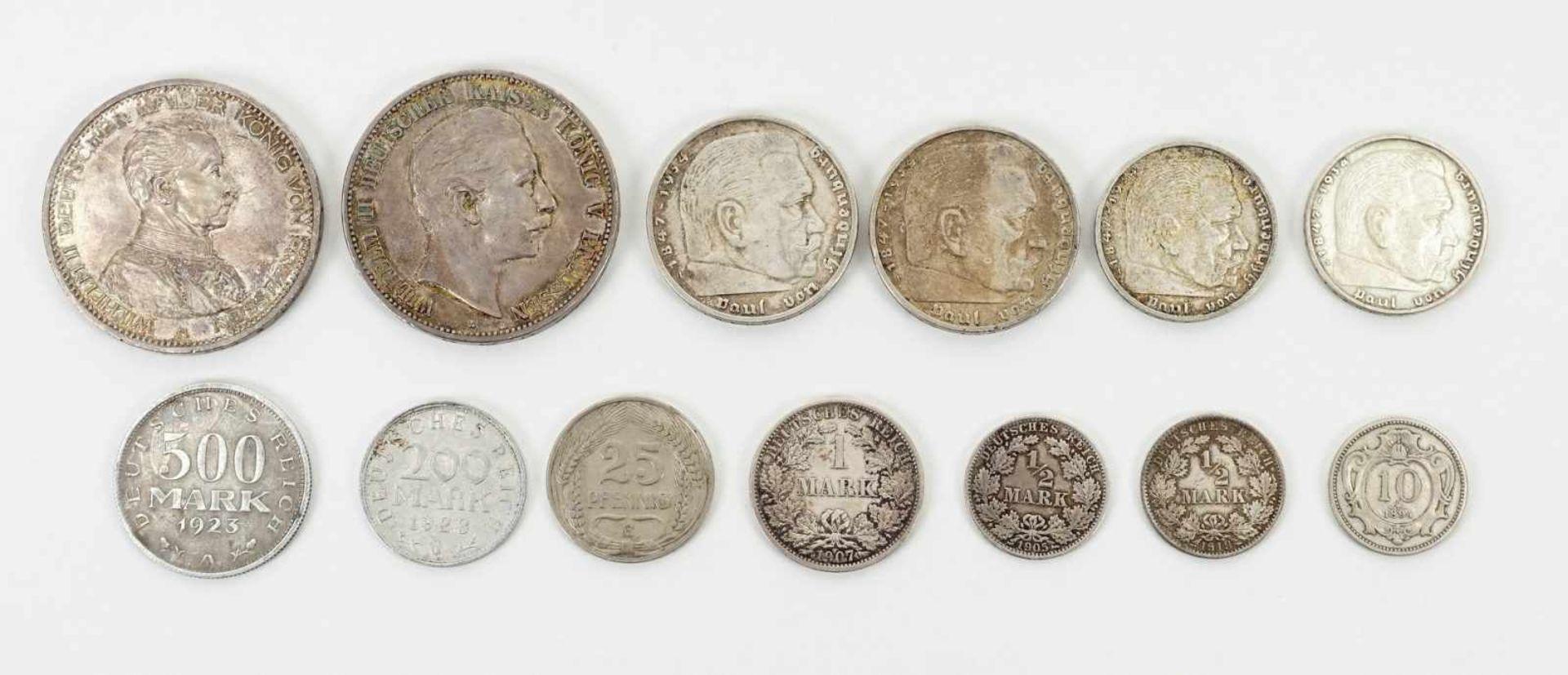 22 Münzen 1854-1936, davon 19 Silbermünzen - Bild 6 aus 7