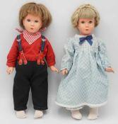 """Zwei Schildkröt Puppen """"Modell Käthe Kruse"""" T40, wohl um 1955"""