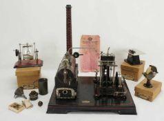 Konvolut Doll Dampfmaschine und drei Anbauteile von Märklin