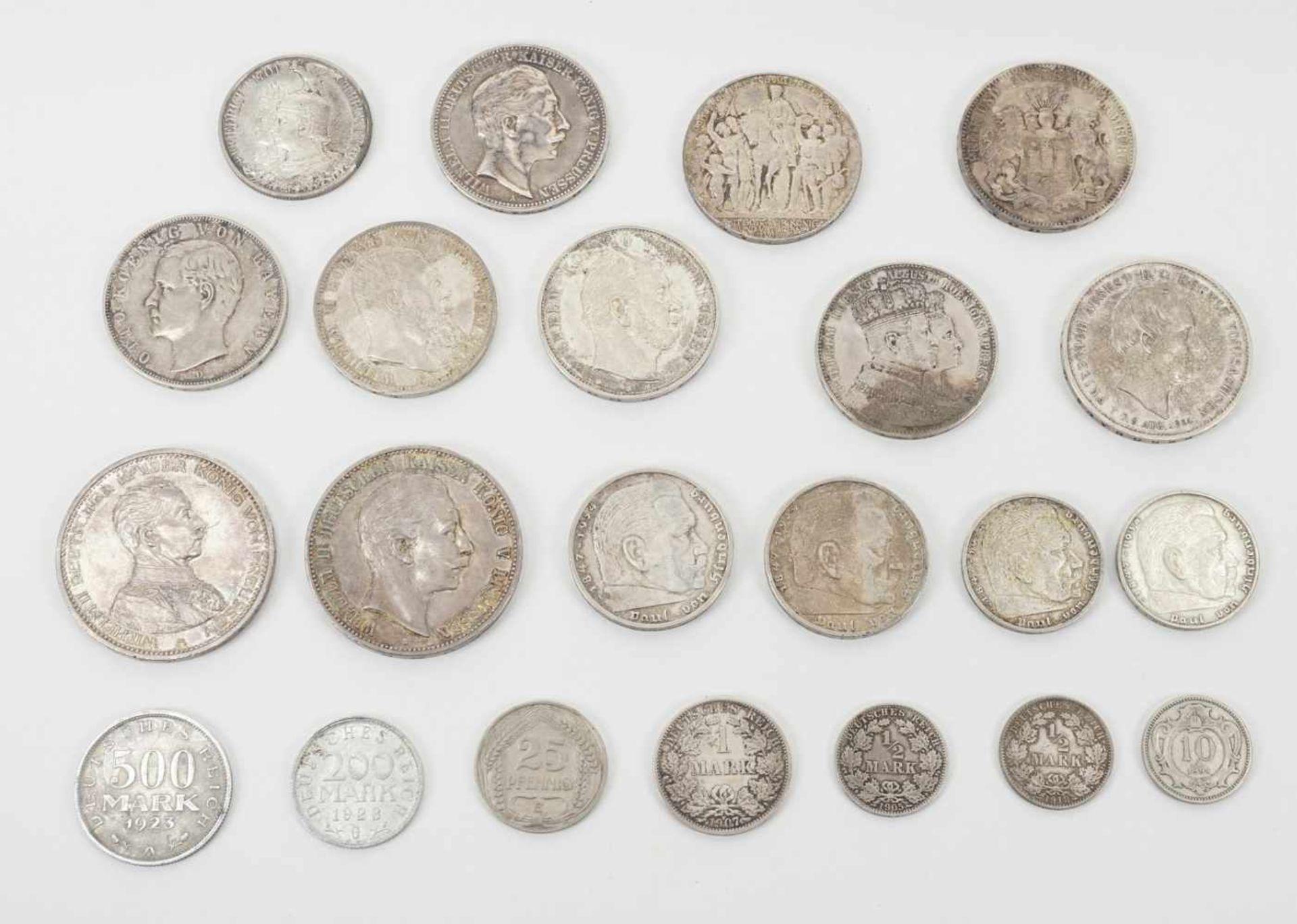 22 Münzen 1854-1936, davon 19 Silbermünzen - Bild 2 aus 7