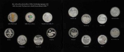 Silber-Gedenkprägung der FIFA Fußball-Weltmeisterschaft Deutschland 2006