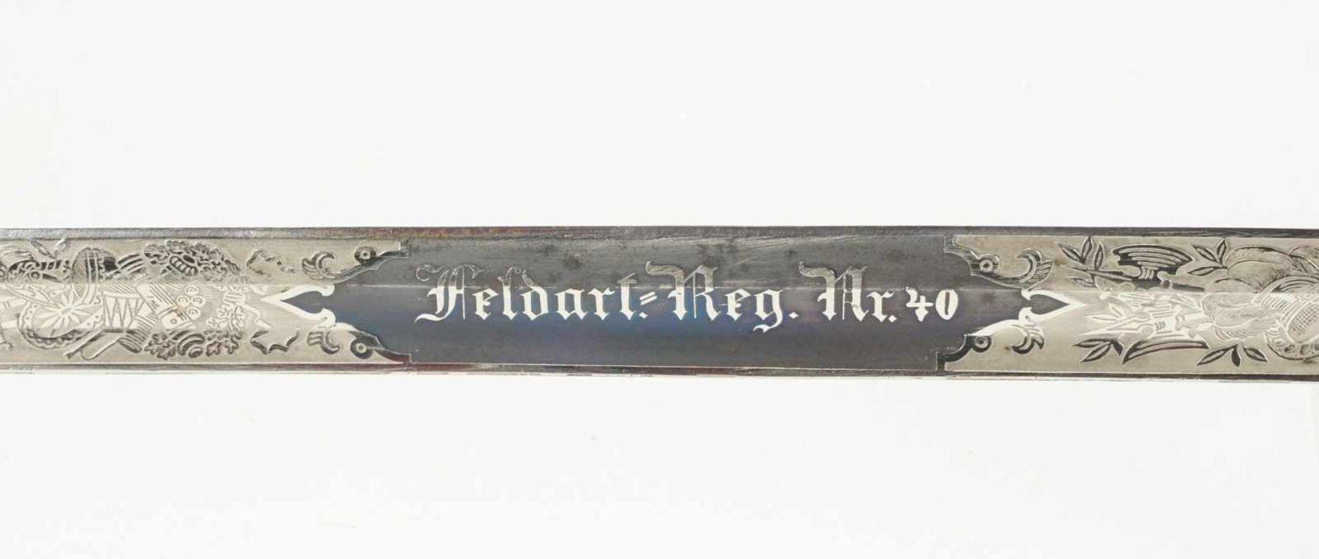 Artilleriesäbel, um 1900 - Bild 3 aus 4