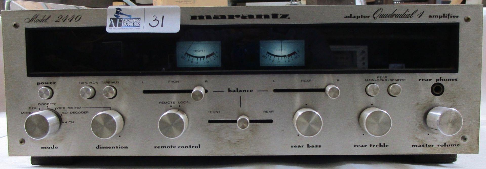 Lot 31 - MARANTZ 2440 QUADRA DIAL 4 AMP