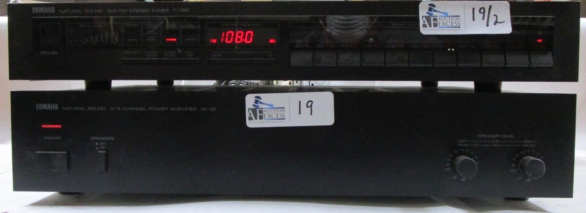 Lot 19 - LOT OF 2 YAMAHA ELECTRONICS