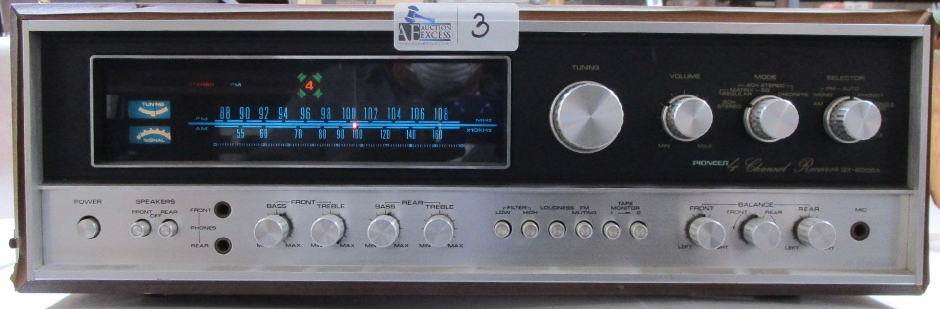 Lot 3 - PIONEER QX-8000A RECEIVER