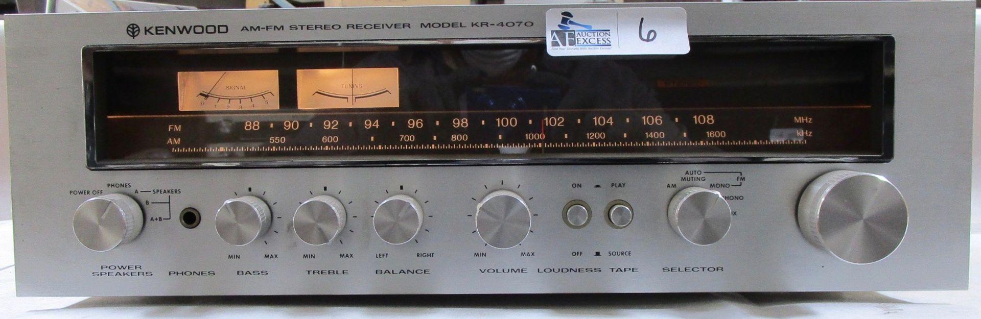 Lot 6 - KENWOOD KR-4070 RECEIVER