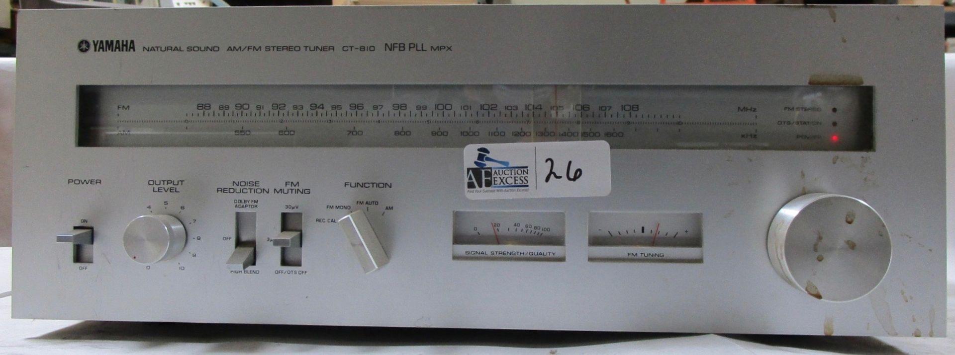 Lot 26 - YAMAHA CT-810 RECEIVER