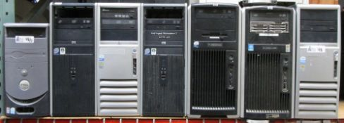 LOT OF 7 HP/DELL COMPUTERS