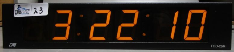 CLARK & ASSOCIATES TCD-26R DIGITAL CLOCK READER