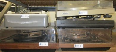 LOT OF 4 TURNTABLES INCLUDING DUAL/PIONEER/VOICE OF MUSIC