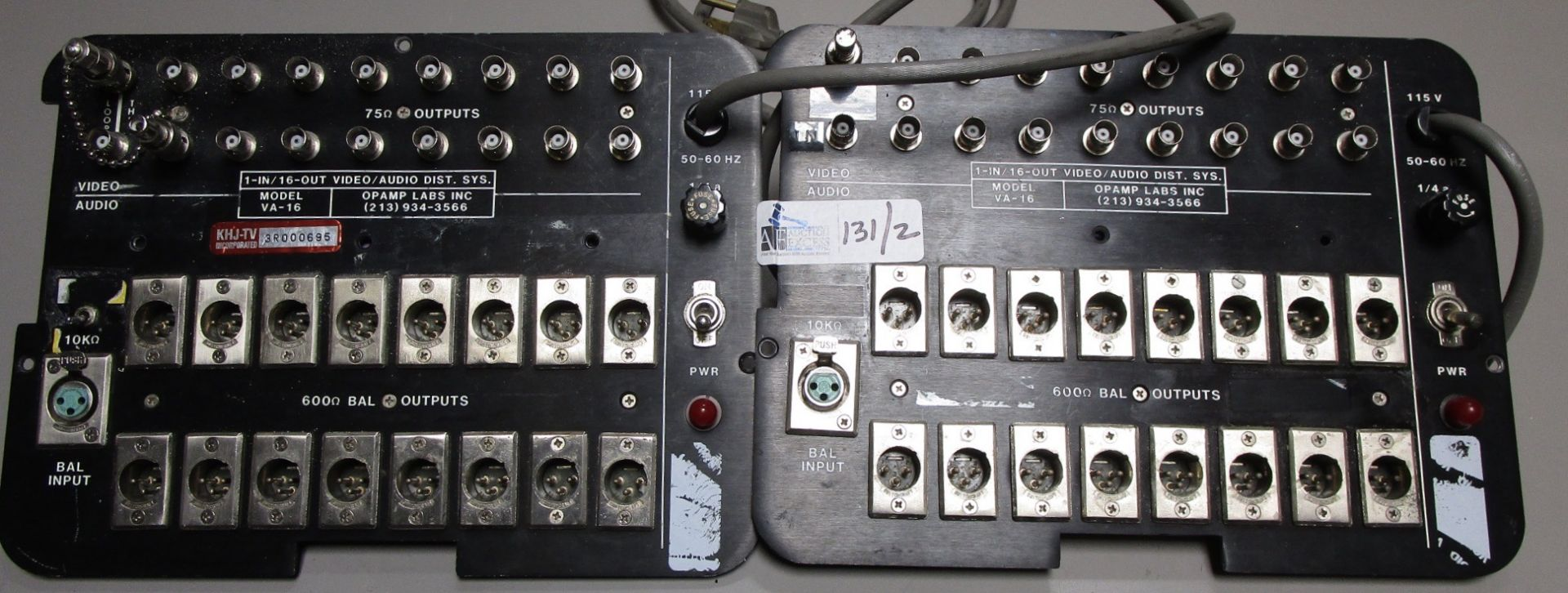 Lot 131 - OP AMP LAB VA-16 IN/OUT ACTIVE A/V PANEL 1 IN 16 OUT