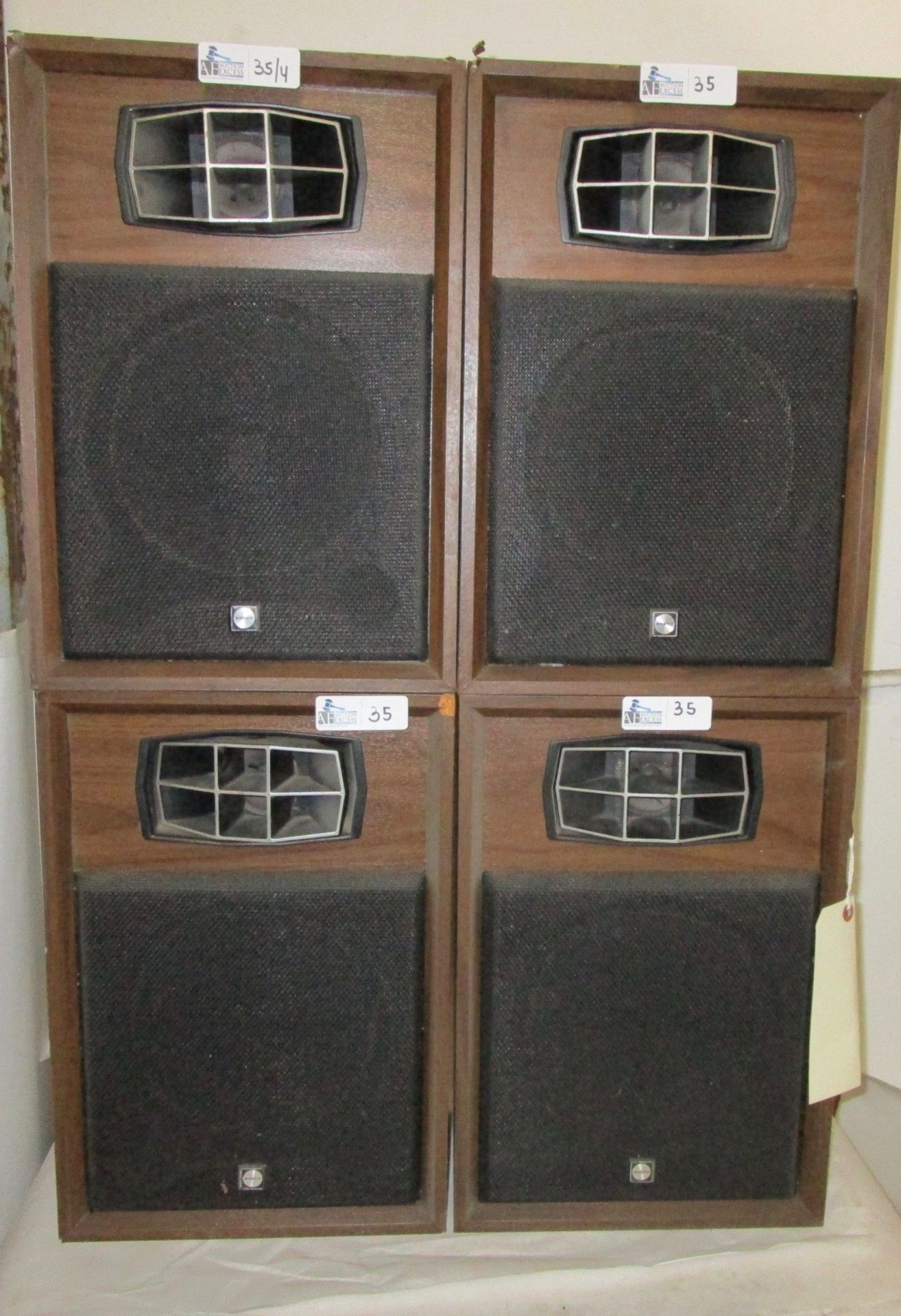 Lot 35 - LOT OF 4 VINTAGE SANYO QUAD SYSTEM SPEAKERS