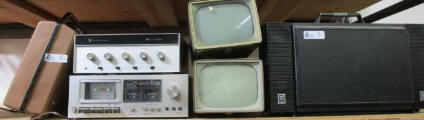 LOT OF 6 VINTAGE ELECTRONICS INCLUDING RCA/GE/EMERSON