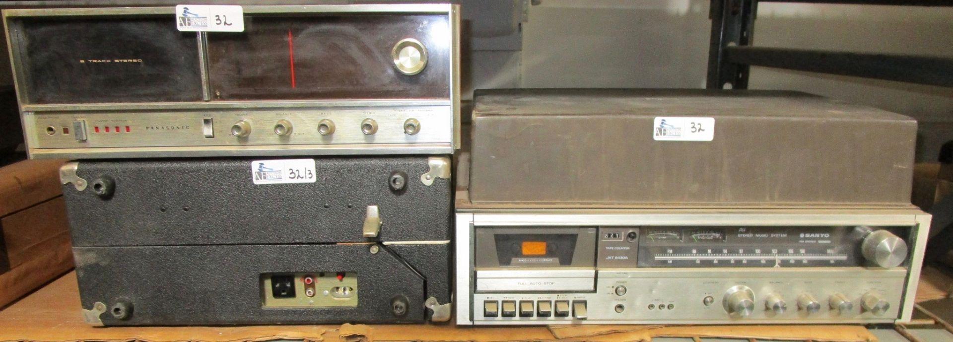 Lot 32 - LOT OF 3 VINTAGE ELECTRONICS