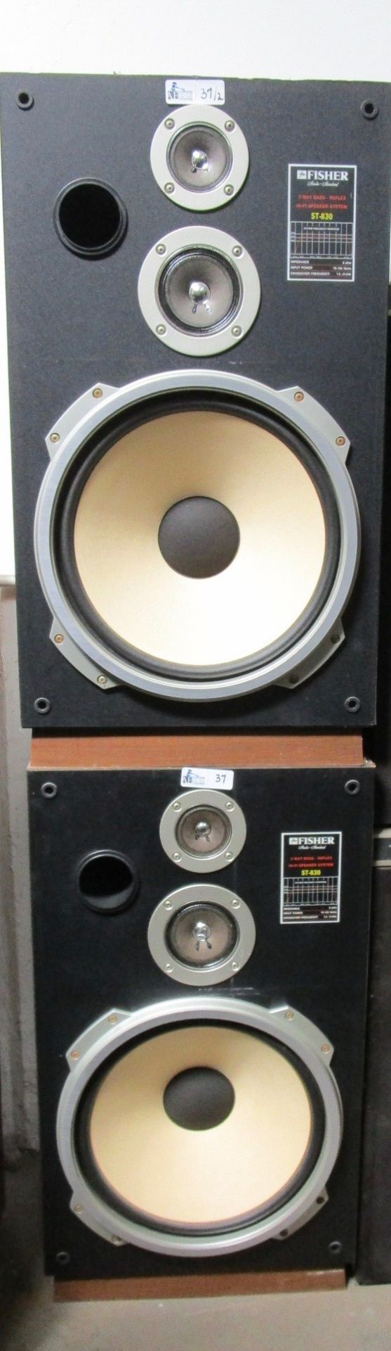 Lot 37 - LOT OF 2 FISHER ST-830 3-WAY SPEAKERS