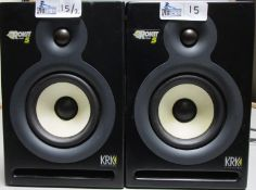 LOT OF 2 KRK SYSTEMS ROKIT 5 SPEAKERS