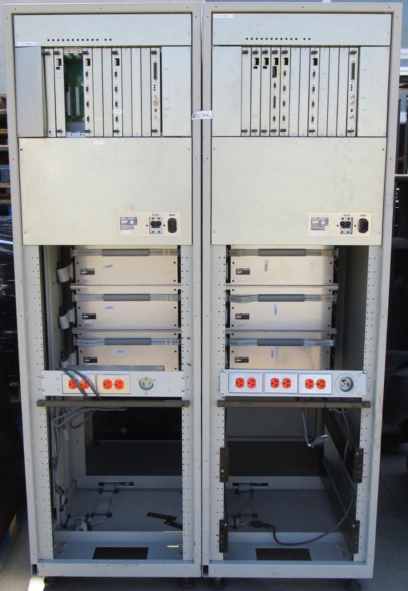 Lot 306 - LOT OF 2 SONY FLEXCART 2 BFC-1 TAPE PLAYBACK/RECORD AUTOMATION SYSTEM