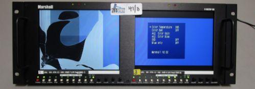 LOT OF 3 MARSHALL V-R82DP-SD RACK MOUNT MONITORS