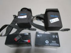 LOT OF 2 PORTABLE COOL LUX BATTERY BELT PACK
