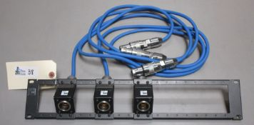 ADC TRIAX BREAKOUT PANEL WITH 3 TRIAX CABLES