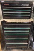 COBALT ROLL AWAY TOOL BOX WITH BALL BEARING SLIDE DRAWERS CONTENTS INCLUDED