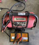 LOT 0F 2 BATTERY CHARGERS