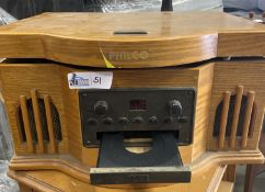 PHILCO RECORD CONSOLE WITH CD AND TABLE