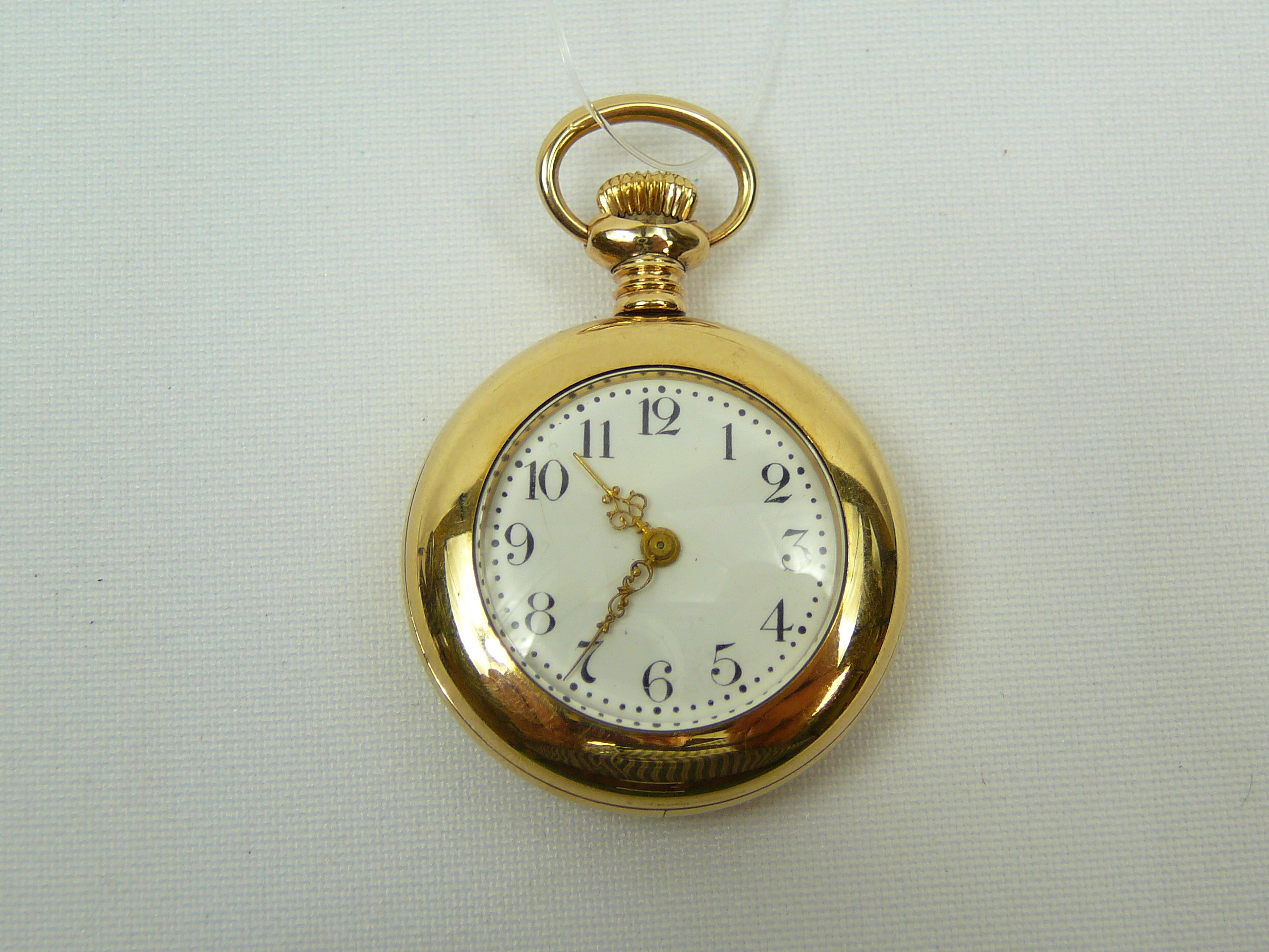 Lot 13 - Ladies gold plated fob watch