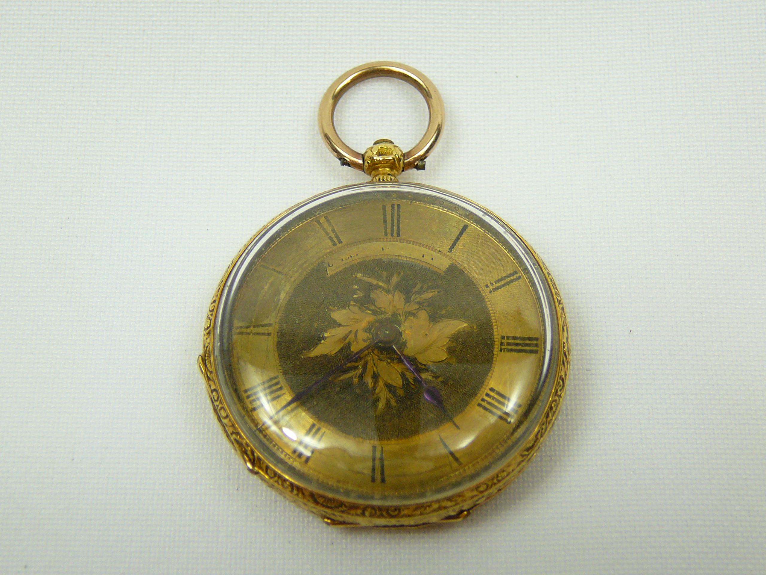 Lot 14 - Ladies gold fob watch
