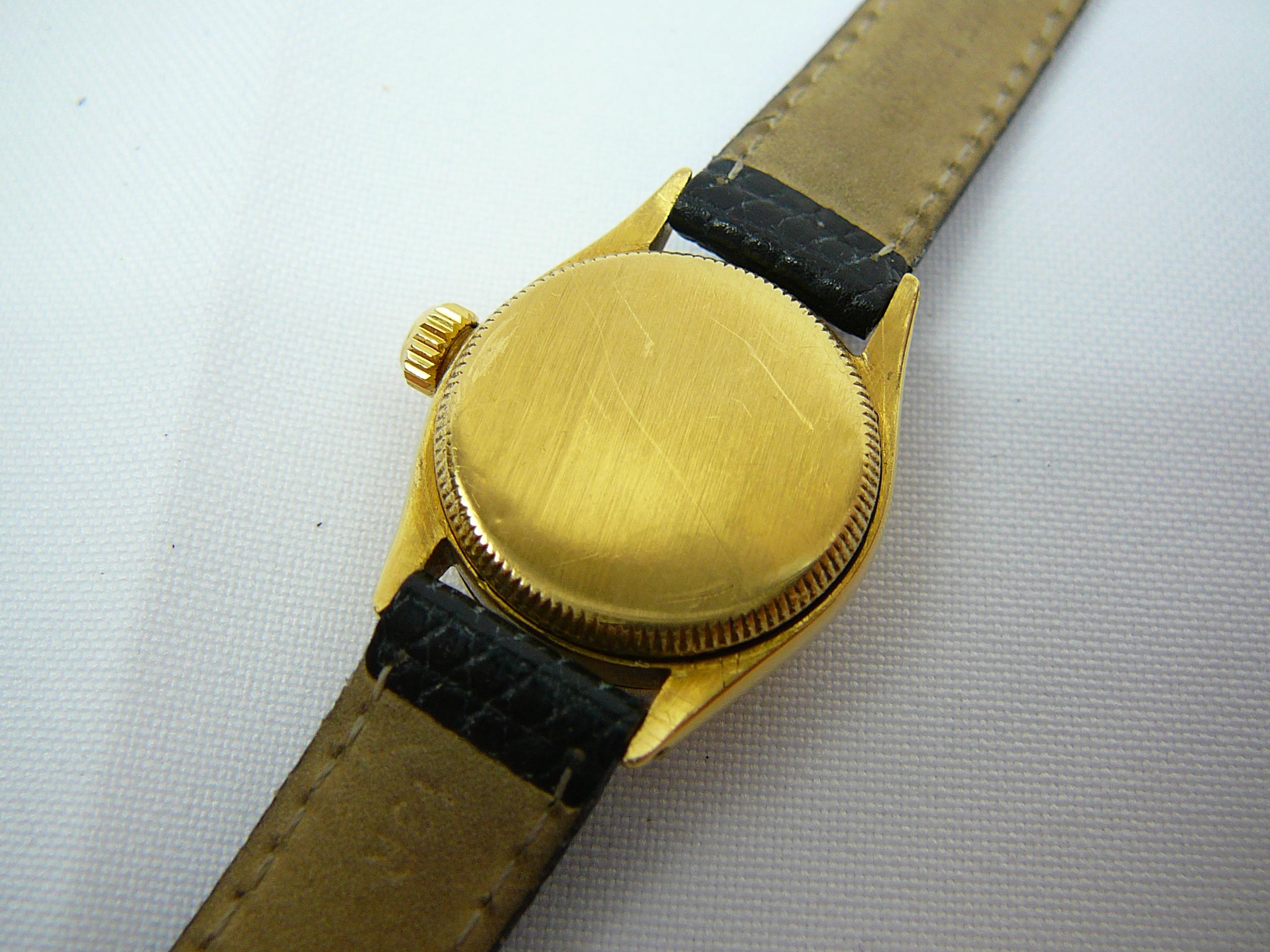 Lot 3 - Ladies vintage 18ct gold Rolex wrist watch